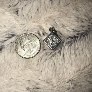 Louis Vuitton Crystal Stamped Pendant